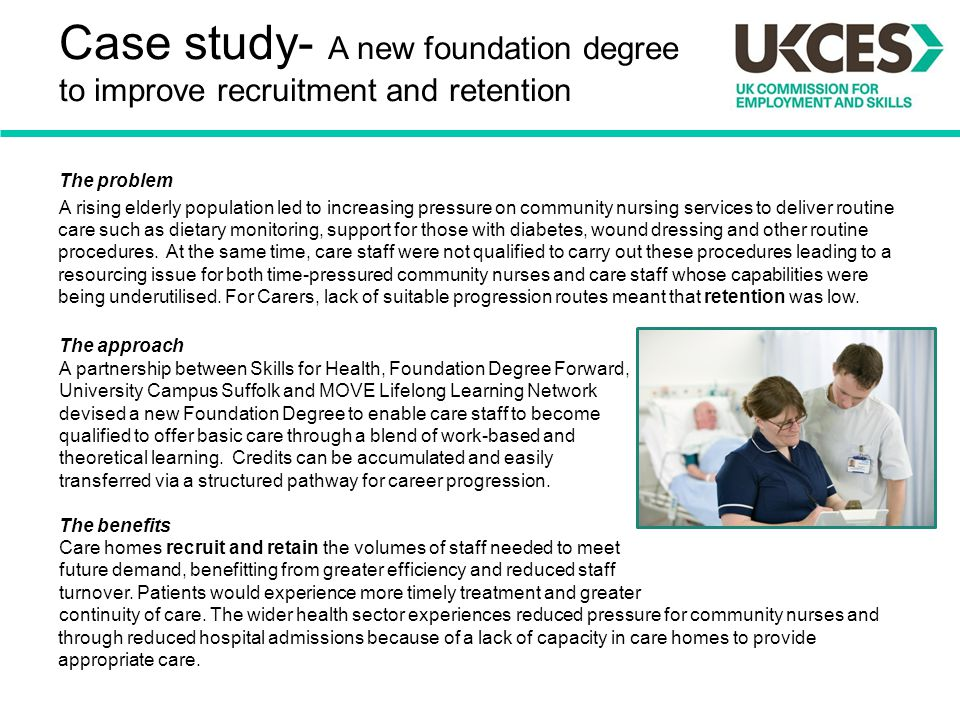 Case study- A new foundation degree to improve recruitment and retention