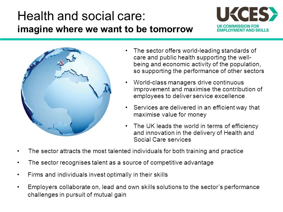 Health and social care: imagine where we want to be tomorrow