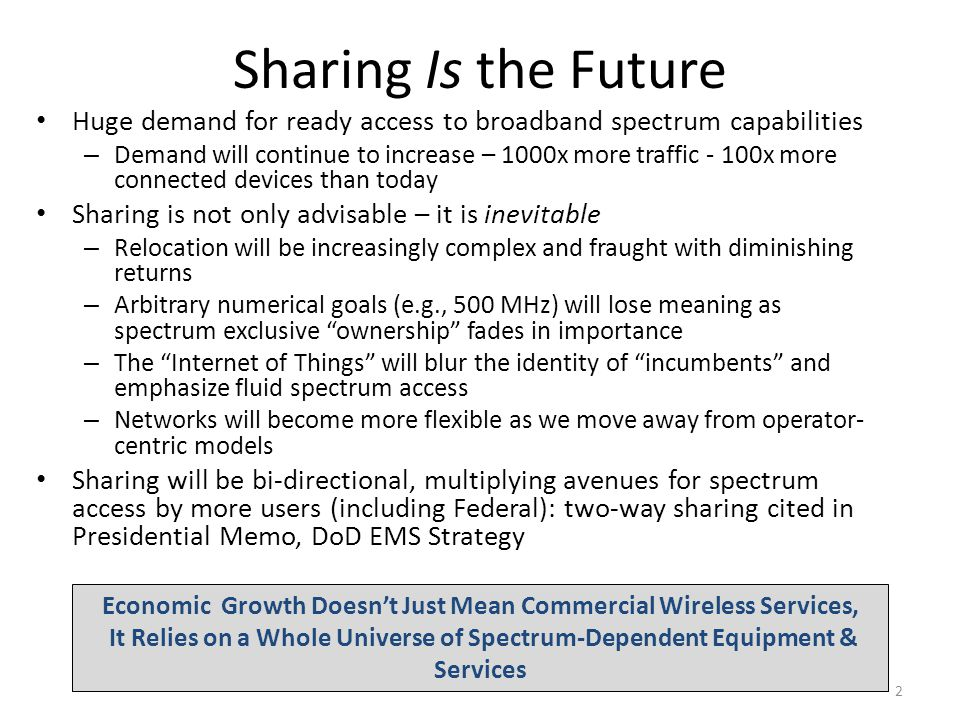 Future of Spectrum Sharing