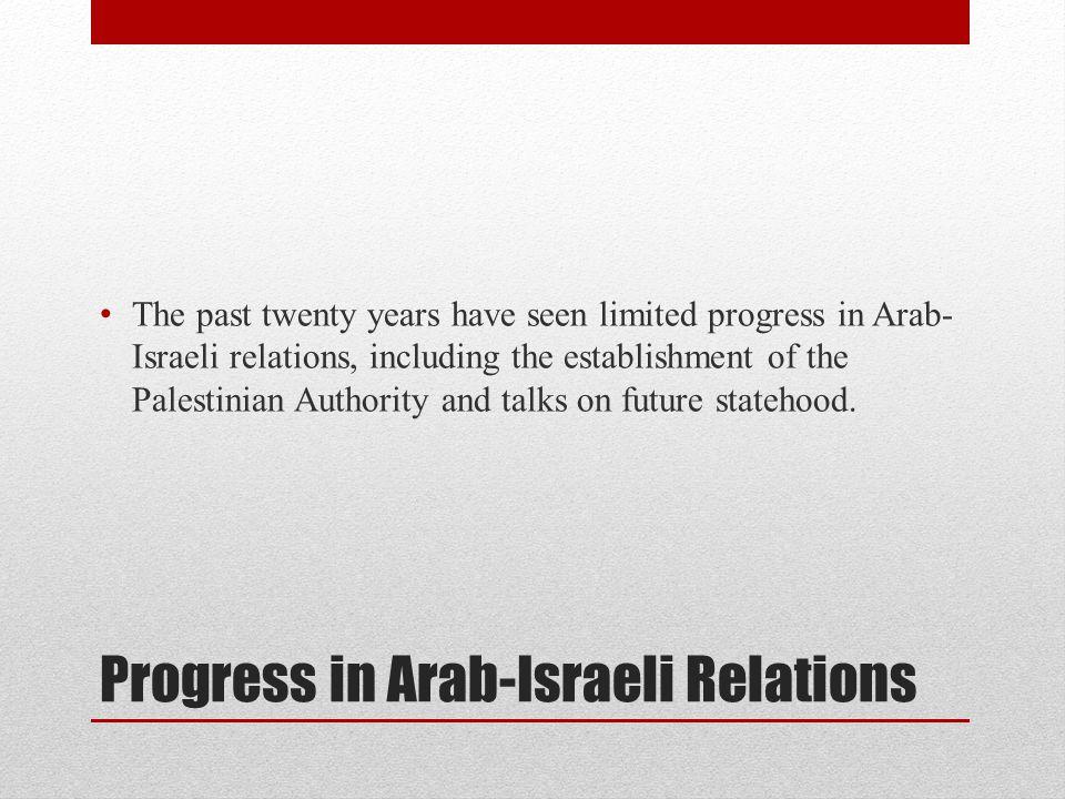 Progress in Arab-Israeli Relations