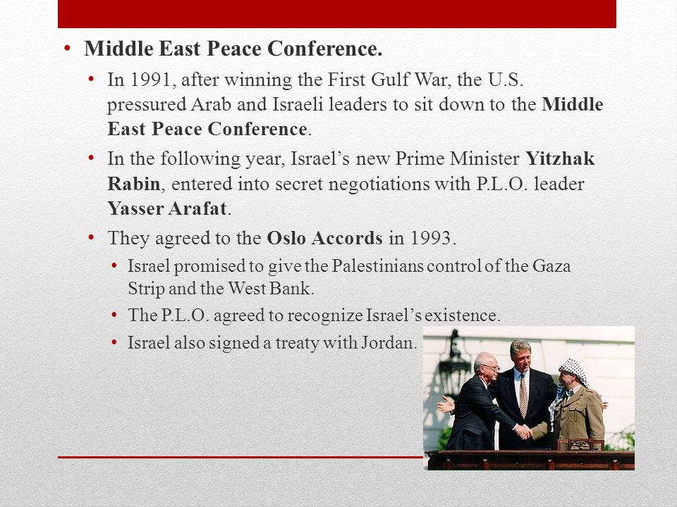Middle East Peace Conference.