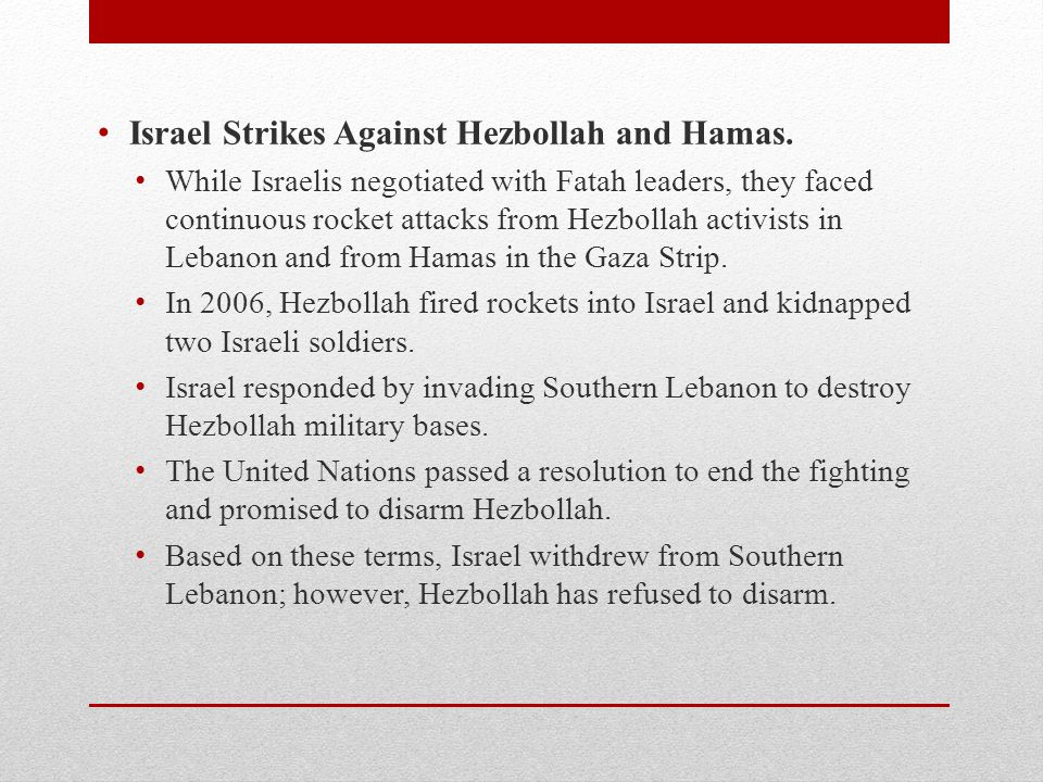 Israel Strikes Against Hezbollah and Hamas.