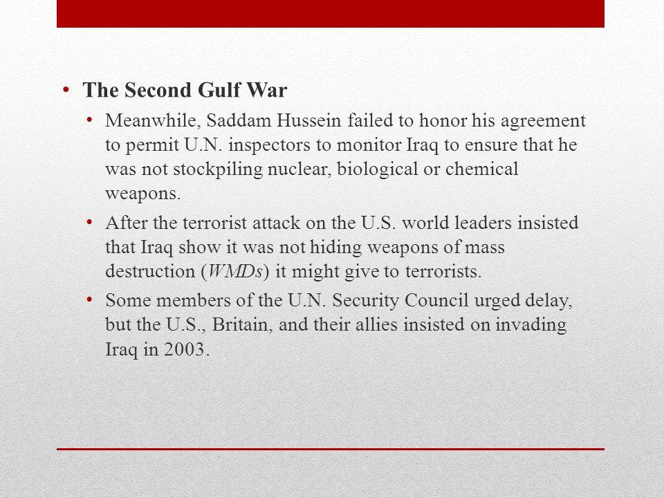 The Second Gulf War