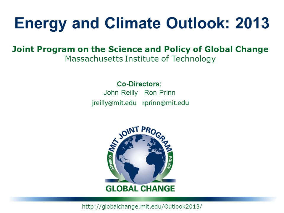 Energy and Climate Outlook: 2013