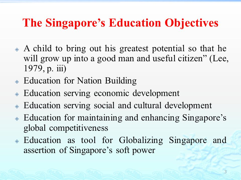 The Singapore's Education Objectives