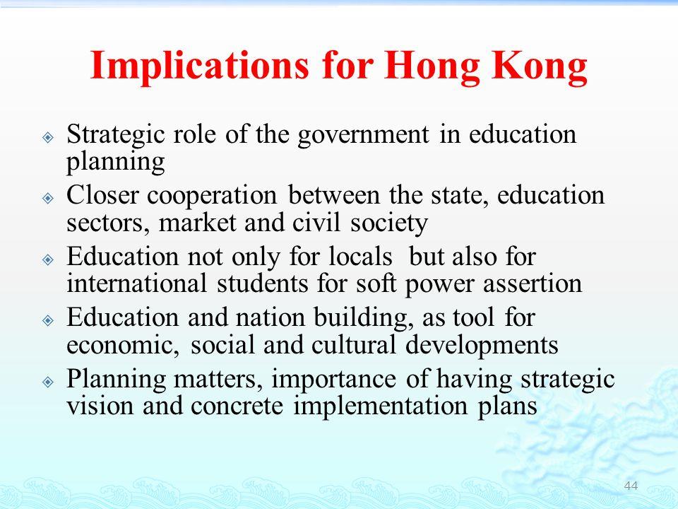 Implications for Hong Kong