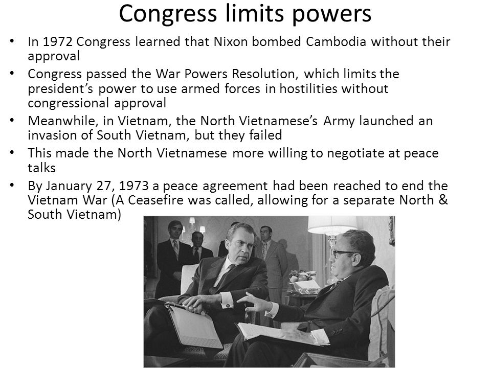 Congress limits powers