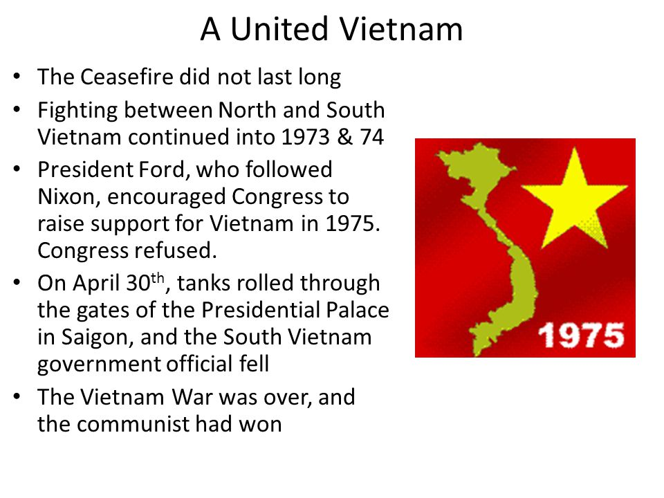 A United Vietnam The Ceasefire did not last long