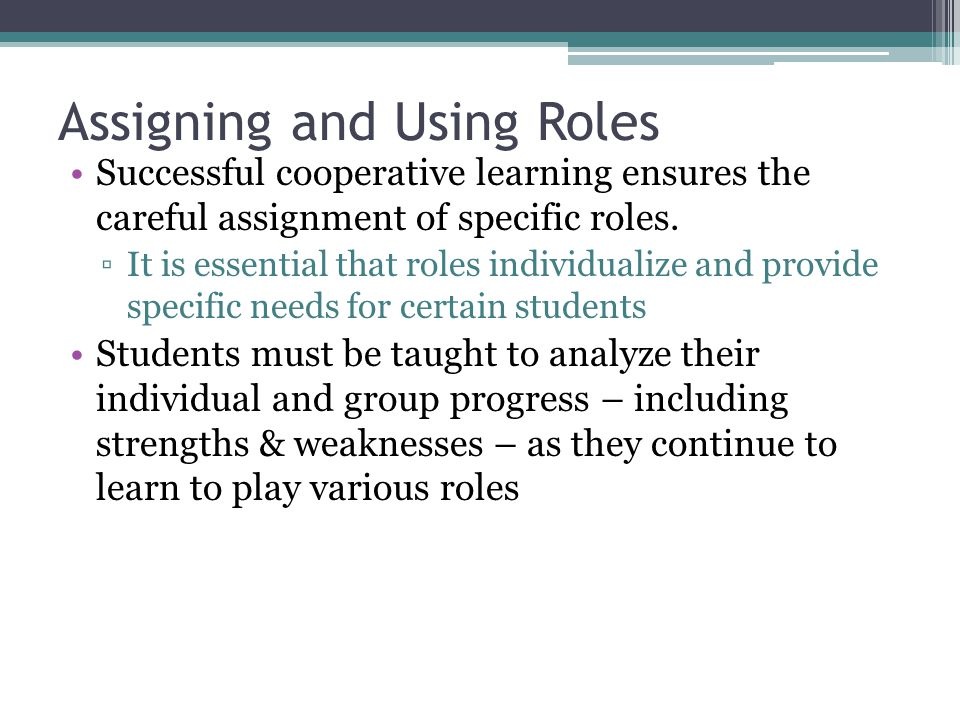 Assigning and Using Roles
