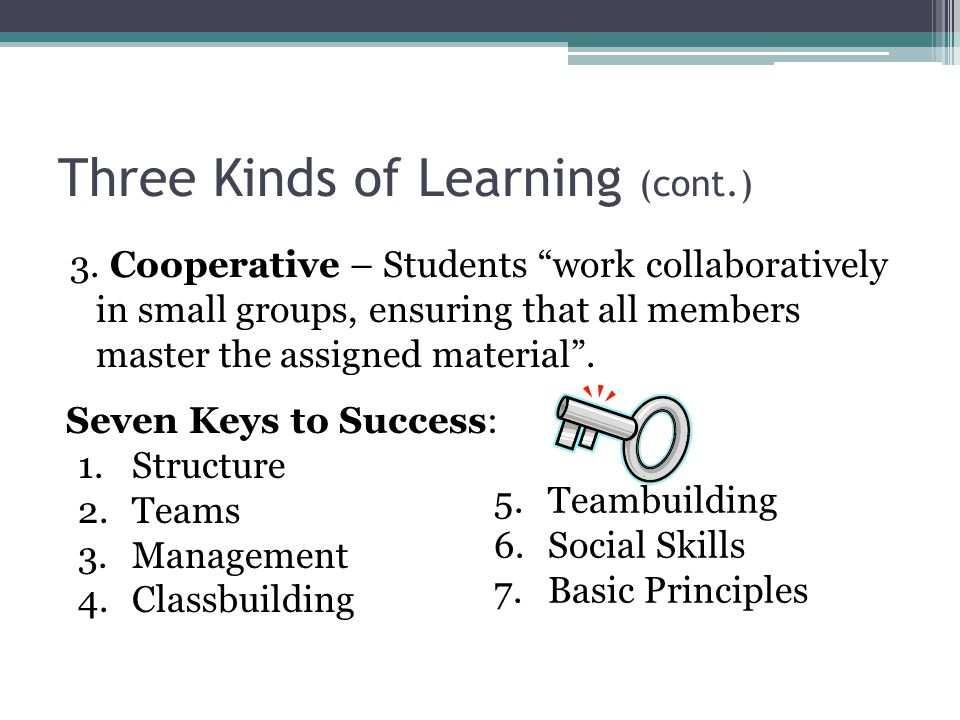 Three Kinds of Learning (cont.)