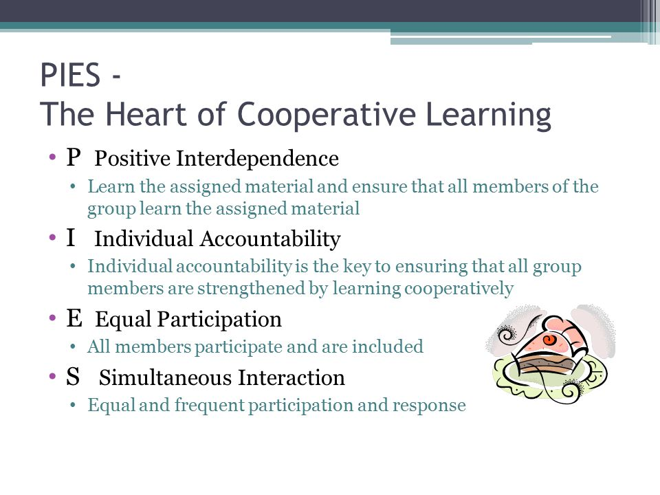 PIES - The Heart of Cooperative Learning