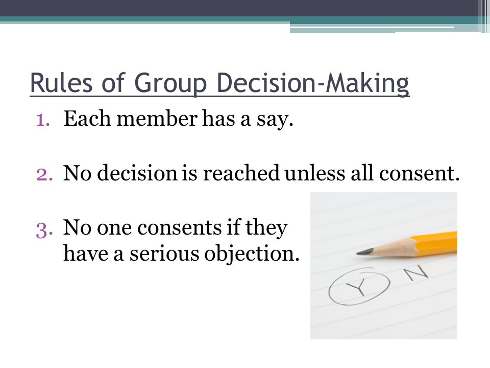 Rules of Group Decision-Making