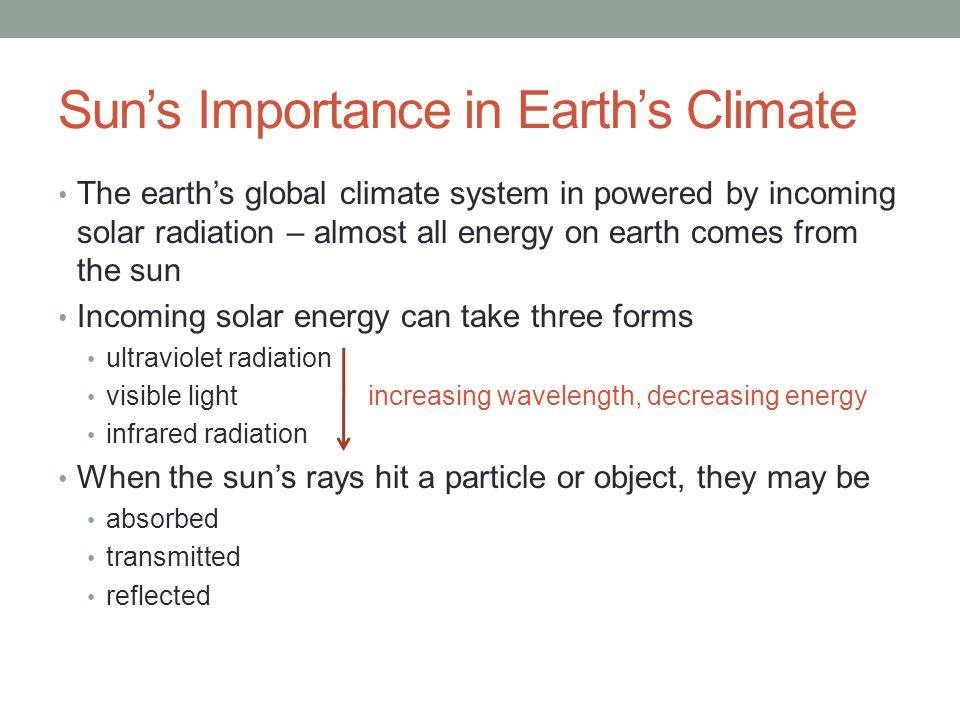 Sun's Importance in Earth's Climate