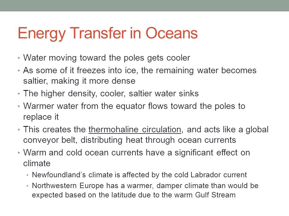 Energy Transfer in Oceans