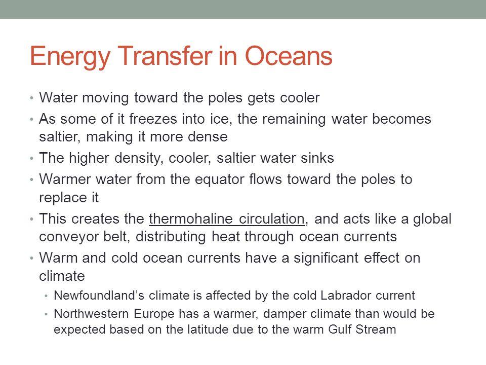 Energy Transfer in Oceans