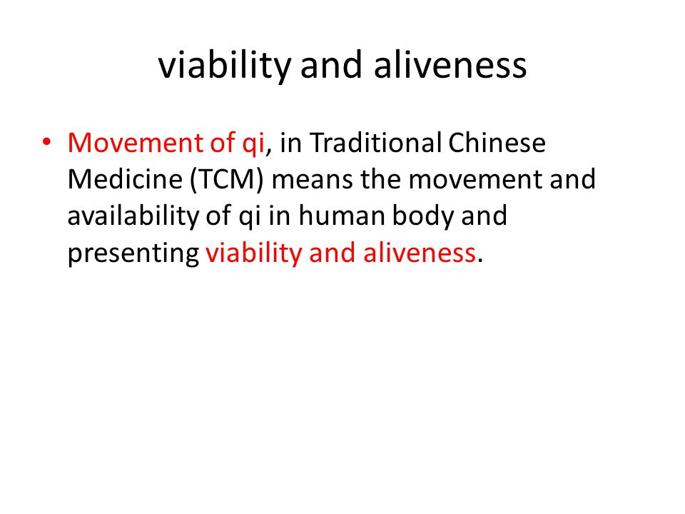 viability and aliveness