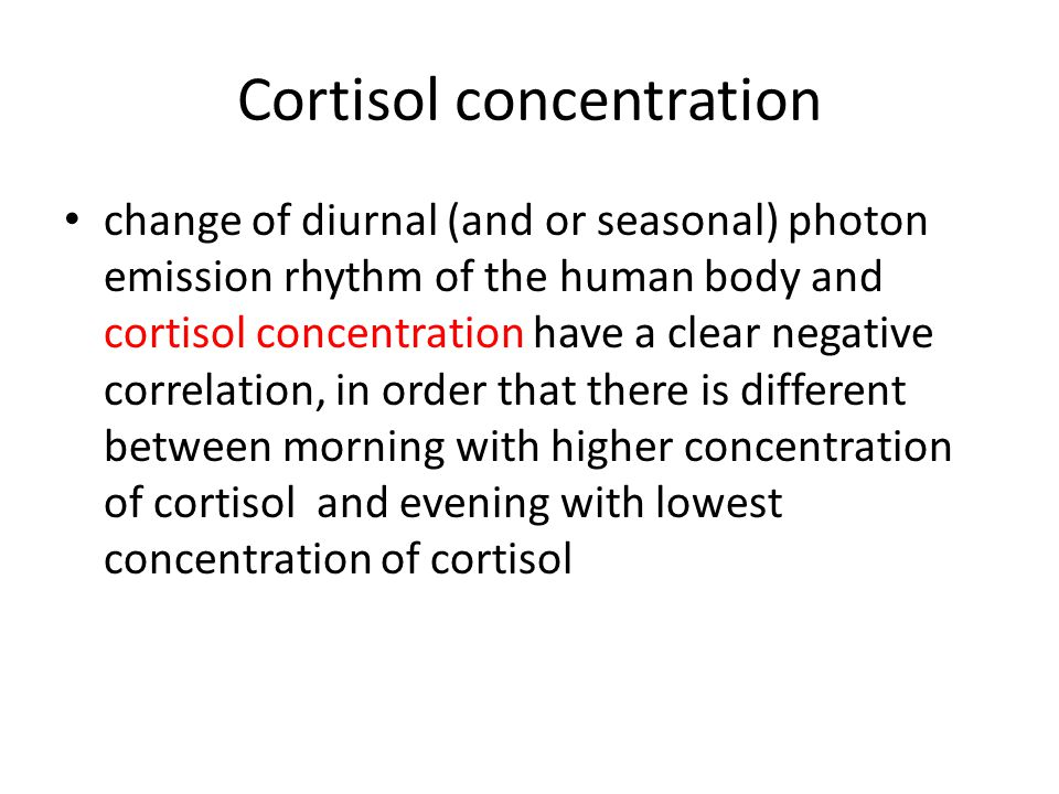 Cortisol concentration