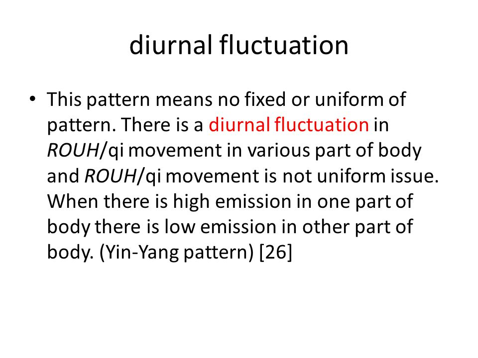 diurnal fluctuation