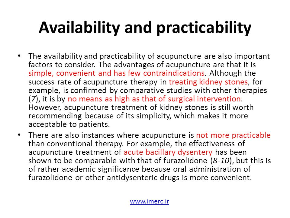 Availability and practicability