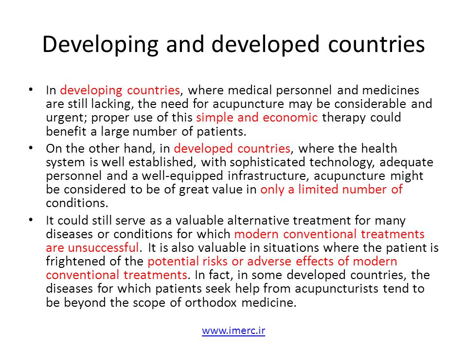 Developing and developed countries