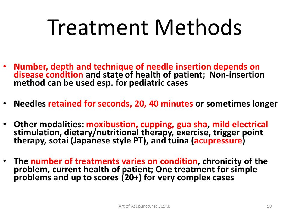 Treatment Methods