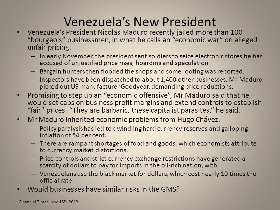 Venezuela's New President