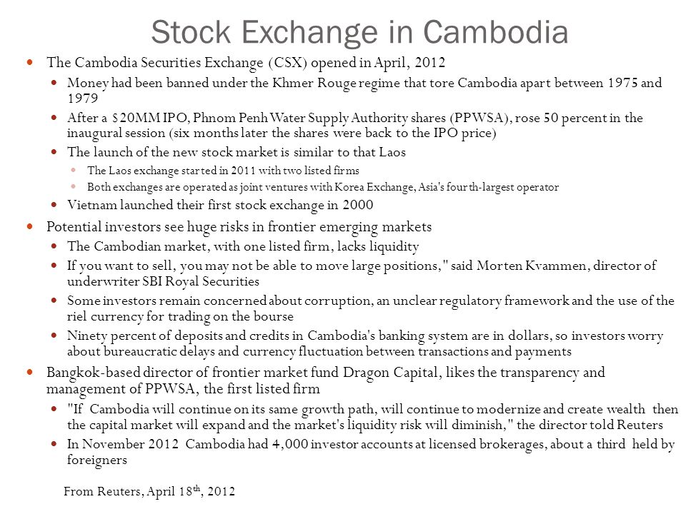 Stock Exchange in Cambodia