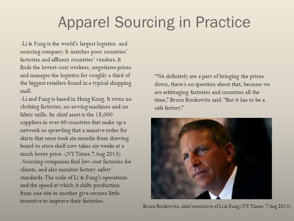 Apparel Sourcing in Practice