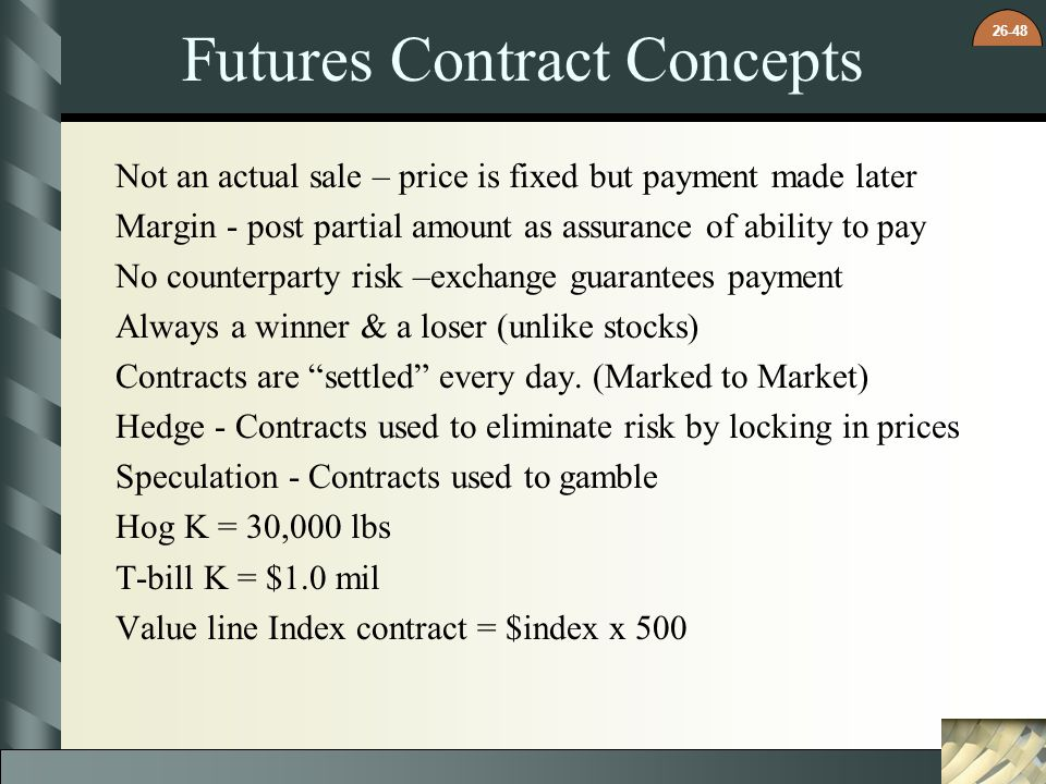 Futures Contract Concepts