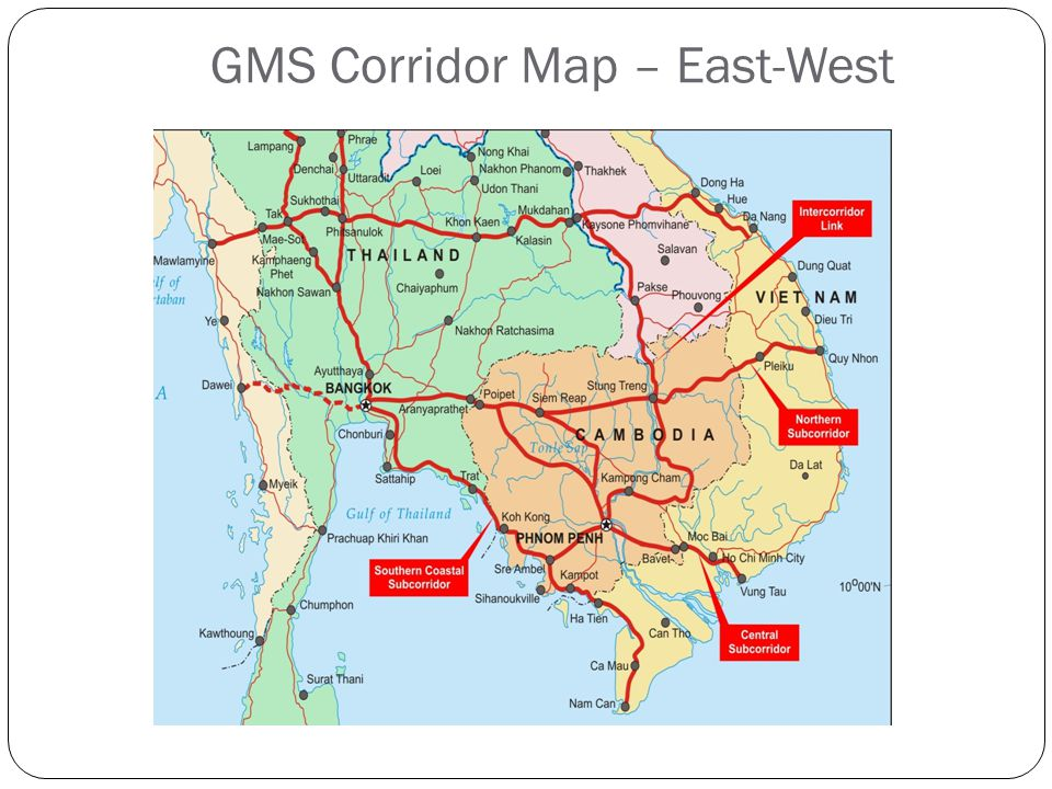 GMS Corridor Map – East-West