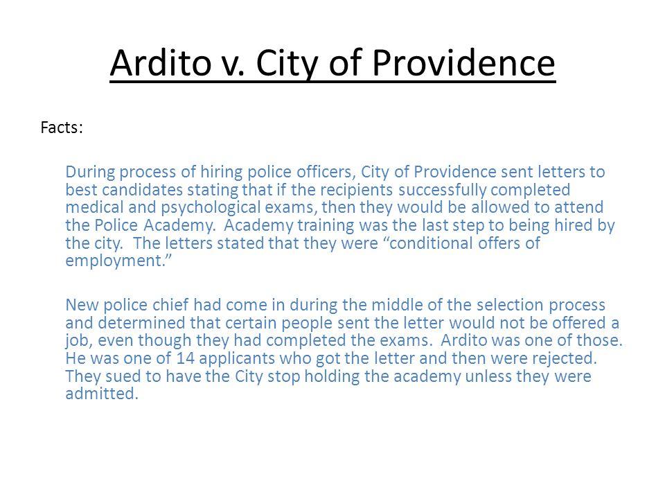 Ardito v. City of Providence