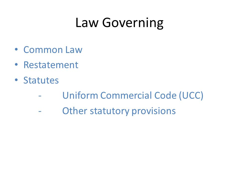 Law Governing Common Law Restatement Statutes