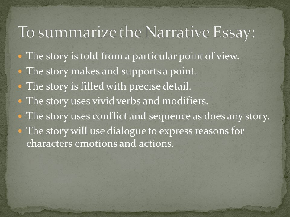 narrative essays to tell a story essay When you write a narrative essay, you are telling a story narrative essays are than to simply tell essays in writing your narrative essay.
