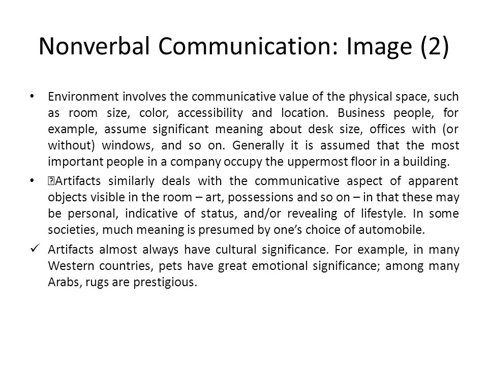 Nonverbal Communication: Image (2)