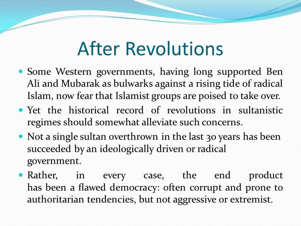 After Revolutions