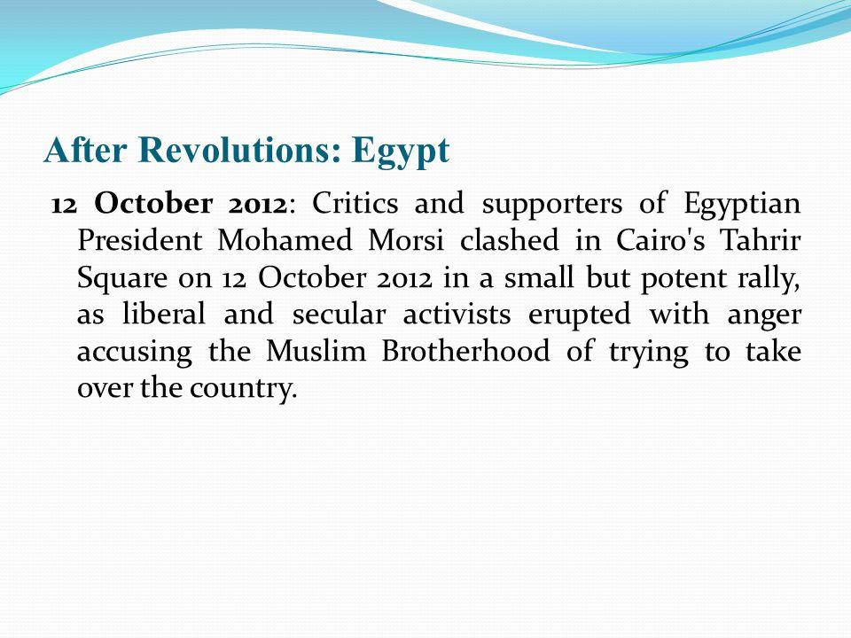 After Revolutions: Egypt