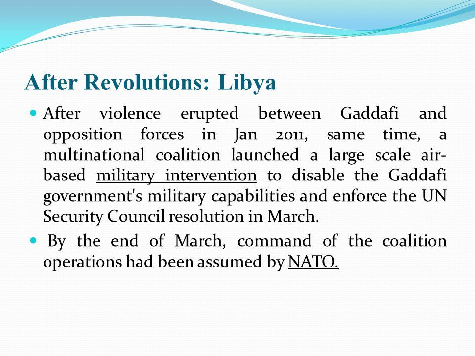 After Revolutions: Libya