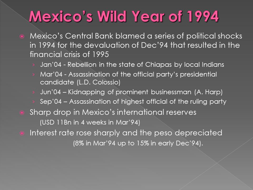 Mexico's Wild Year of 1994