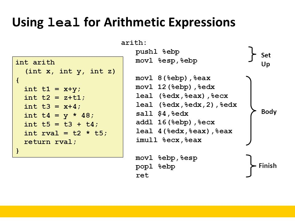 Using leal for Arithmetic Expressions