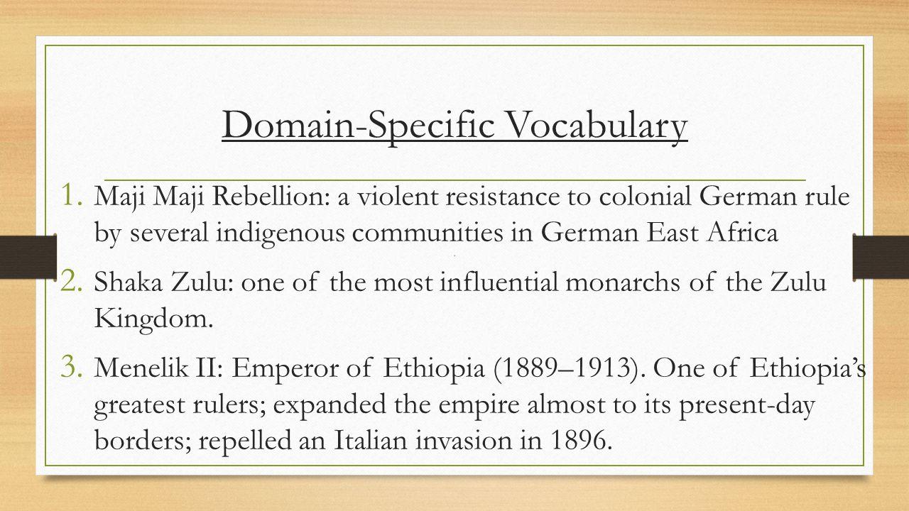 Domain-Specific Vocabulary