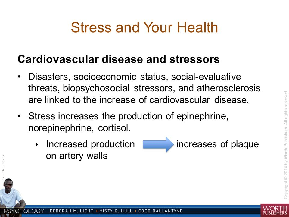 Stress and Your Health Cardiovascular disease and stressors