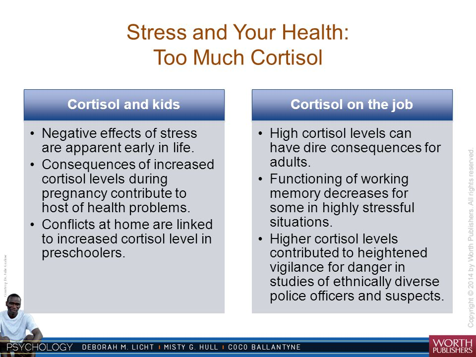 Stress and Your Health: Too Much Cortisol