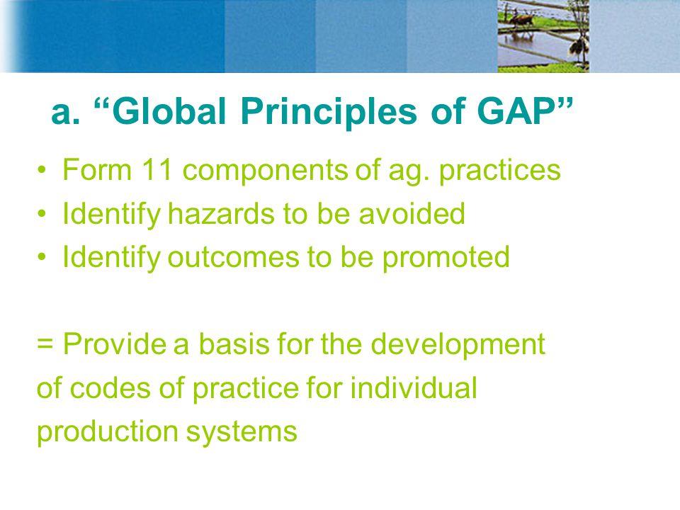 a. Global Principles of GAP