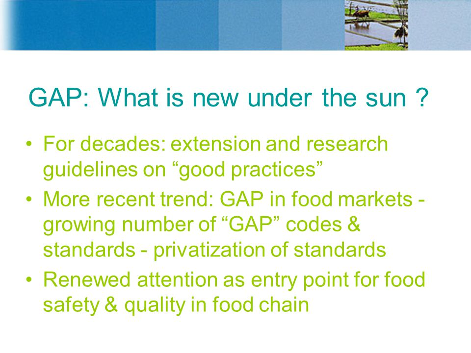 GAP: What is new under the sun