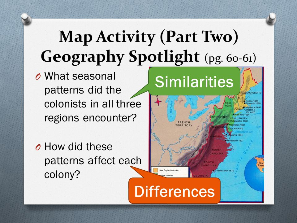 Map Activity (Part Two) Geography Spotlight (pg. 60-61)