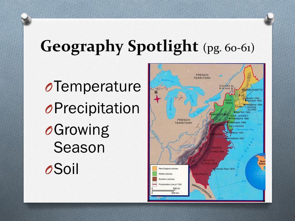 Geography Spotlight (pg. 60-61)