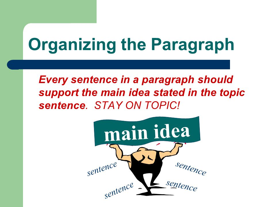 Organizing the Paragraph