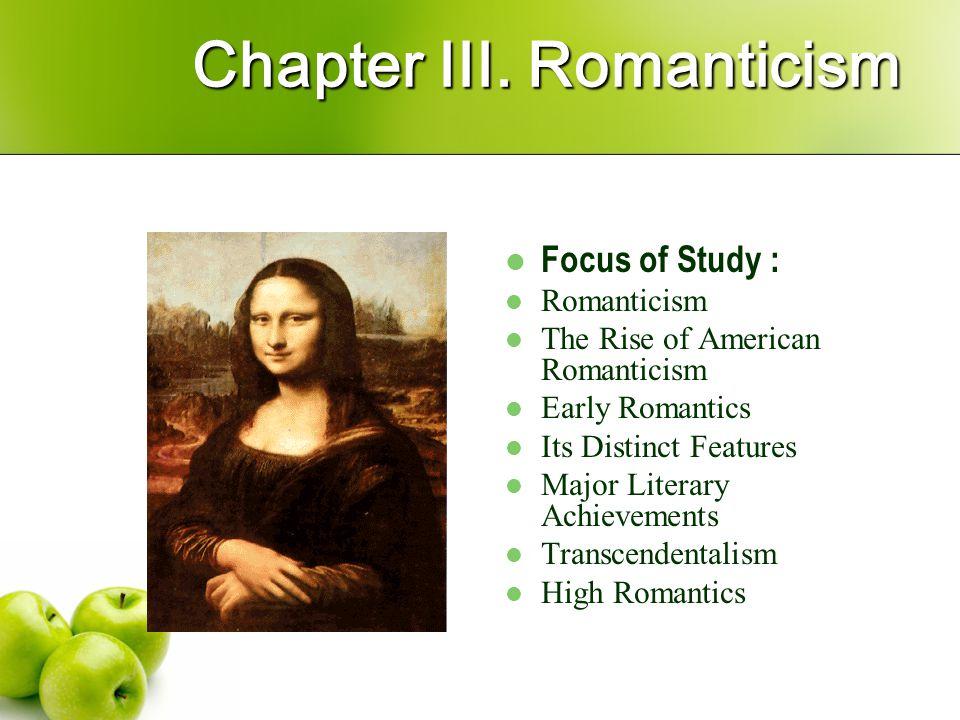 Chapter III. Romanticism