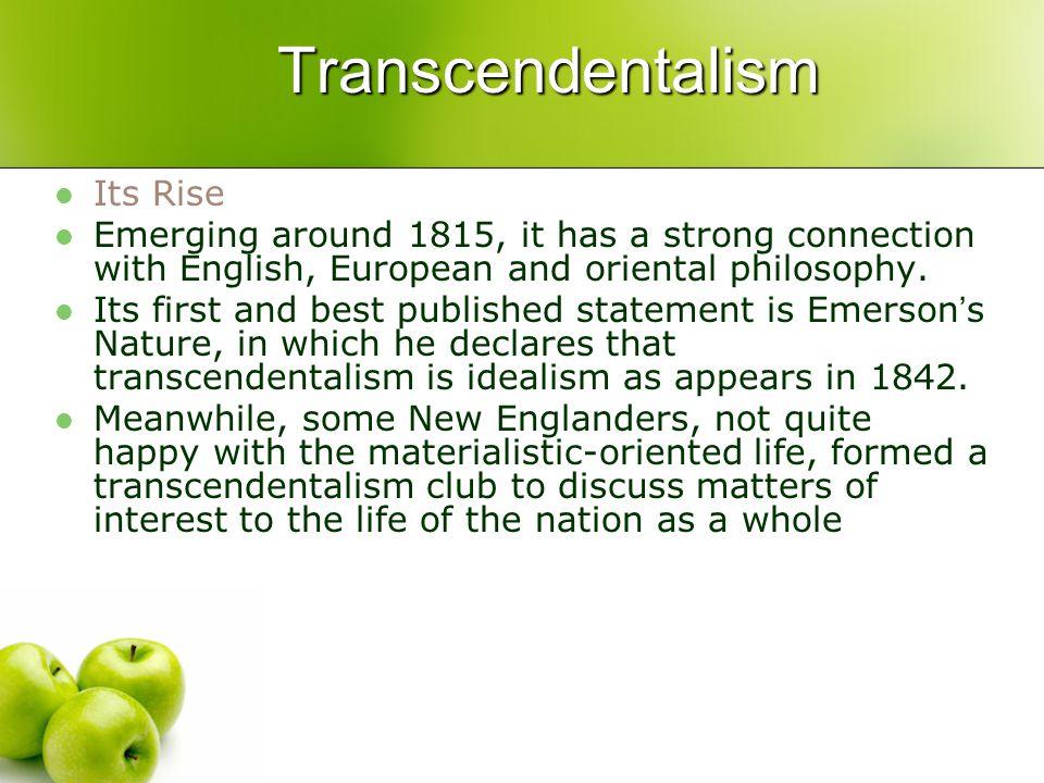 Transcendentalism Its Rise
