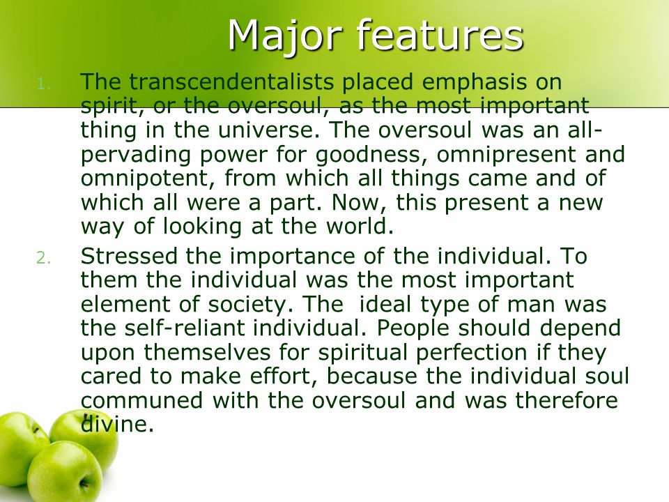 Major features